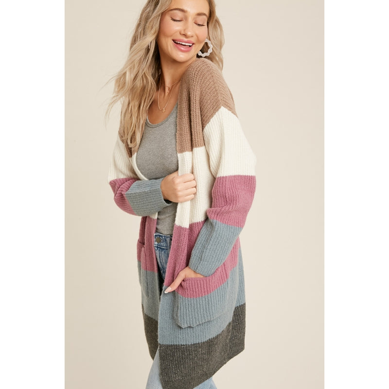 Bluivy Color Blocked Cardigan