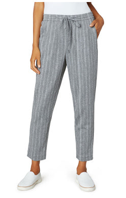 Liverpool Pull On Tie Crop Pant