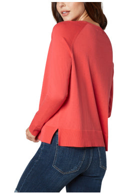 Liverpool Raglan Sweater With Side Slit
