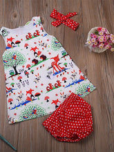 Carregar imagem no visualizador da galeria, Baby Girls' Active / Basic Print Sleeveless Short Cotton Clothing Set Beige / Toddler