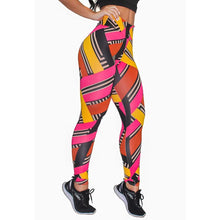 Carregar imagem no visualizador da galeria, Calça Legging Fitness Estampada Colored Stripes