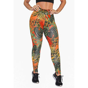 Calça Legging Fitness Estampada Colorful Floral