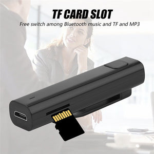 Tradutor de Idiomas Adaptador Receptor Bluetooth Wireless Stereo TF