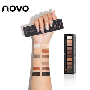 NOVO 10 Colors Matte Eyeshadow Palette Paleta De Sombra Nude Makeup EyeShadow