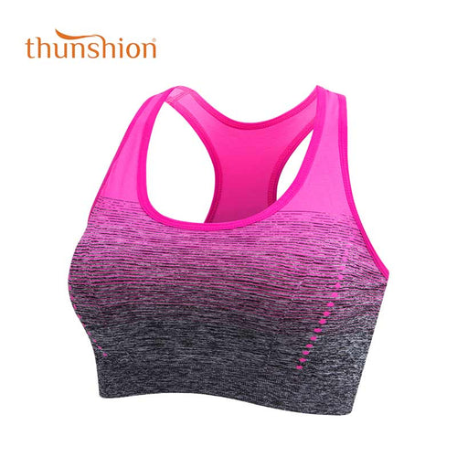 Sutiã Top Esportivo, Nylon, Anti-Suor, Estampa Gradiente, Respirável, Sem Costura, Cores