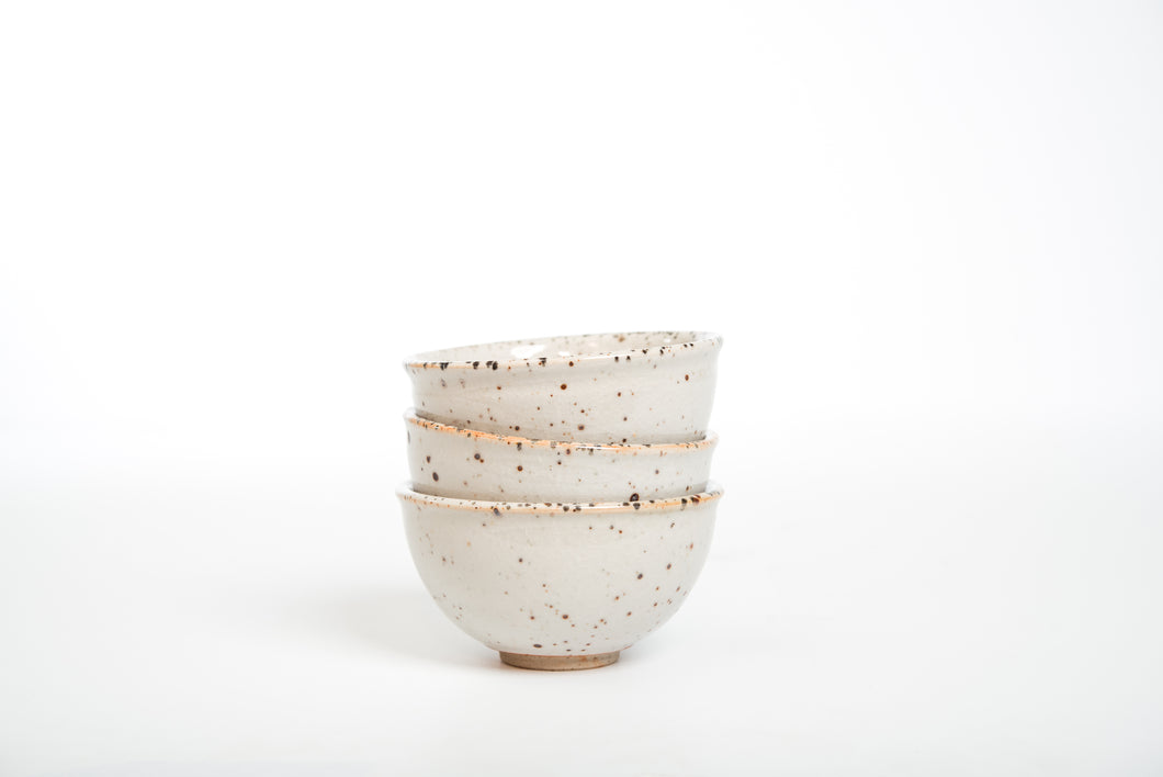 Shino Glazed Bowl Set, 300 ml x 3 bowls