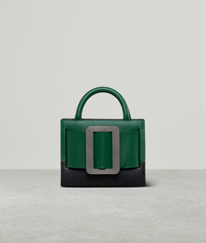 BOBBY 18 TWO-TONE SILVER BUCKLE BOTTLE GREEN / BLACK