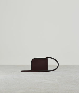 BUCKLE CARD HOLDER WITH STRAP BORDEAUX