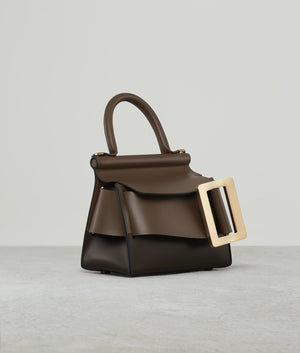 KARL 19 TWO-TONE GOLD BUCKLE SADDLE / CARAMEL