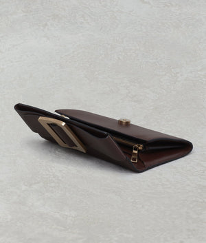 BUCKLE LONG WALLET BORDEAUX