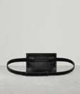 BUCKLE BELT BAG BIG STITCH  BLACK