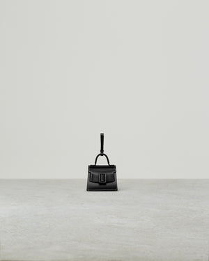 KARL CHARM WITH STRAP BIG STITCH BLACK