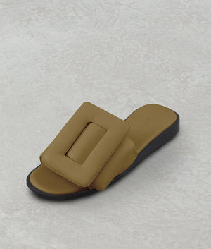 PUFFY SANDAL TAN