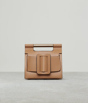 ROMEO LEATHER BUCKLE GOLD HARDWARE GINGER