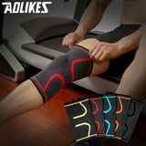 Fitness Running Cycling Knee Support Braces Elastic