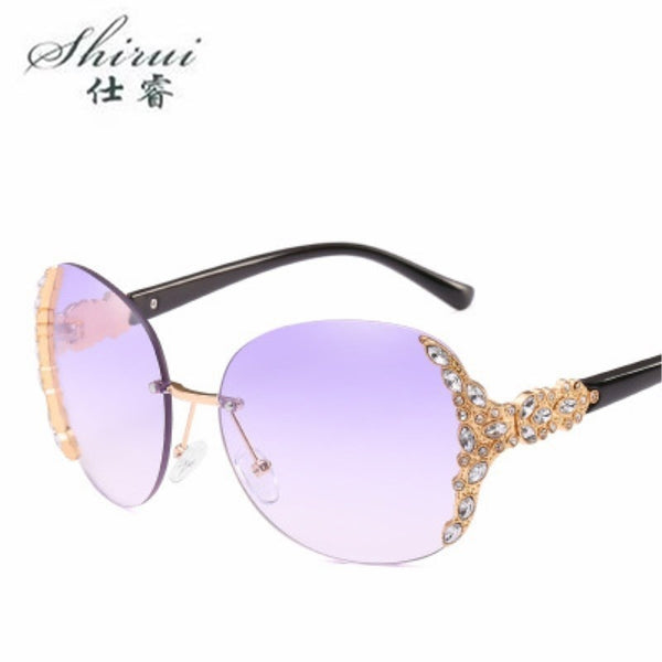 Rimless Crystal sunglasses