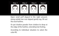 Receding Hair Line  Make up with Puff Fibers