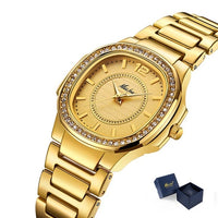 Geneva Designer Diamond Quartz Gold Watch