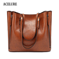 Leather Shoulder Bag Casual Large Capacity