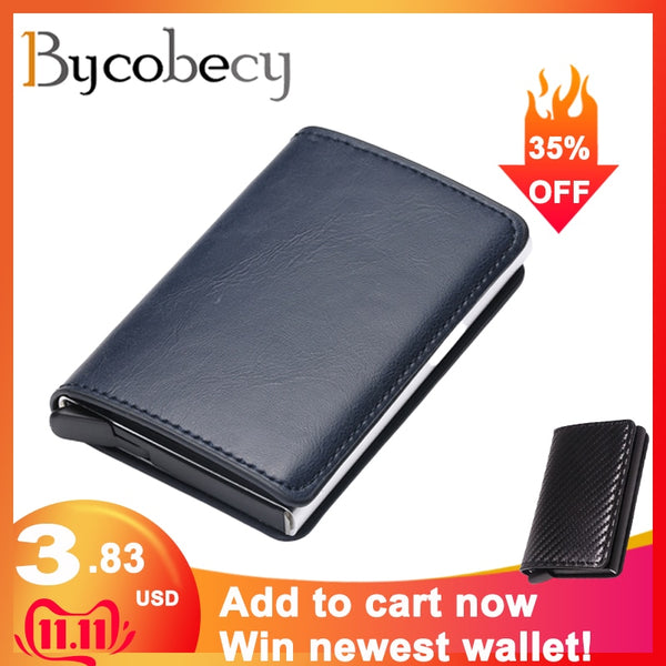 Antitheft Men Vintage Credit Card Holder Wallet