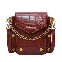 Vintage Rivets Crossbody Contrast Stitching Mini Square Bag