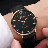 Reloj Fashion Large Dial Military Quartz Men Watch Leather Sport Watches Classic Clock Wristwatch Relogio Masculino #D