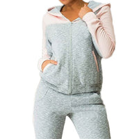 Sport suit Fashion casual fleece Hooded jacket tracksuit
