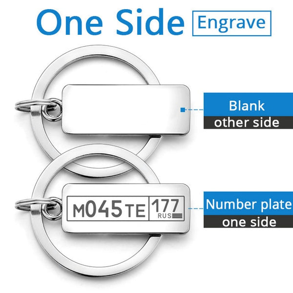 Customized Engraved Keychain For Car Logo Plate