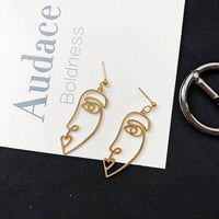 Retro Face Drop Earrings