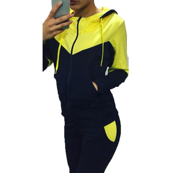 Tracksuit 2 Piece Set Sport suit with Long Sleeve and Zip Jacket