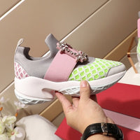 New Air Mesh Crystal Trainers Creeper Sneakers