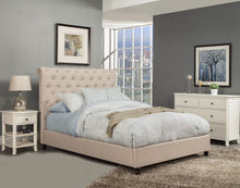 Load image into Gallery viewer, Chloe Queen Bed, Light Grey