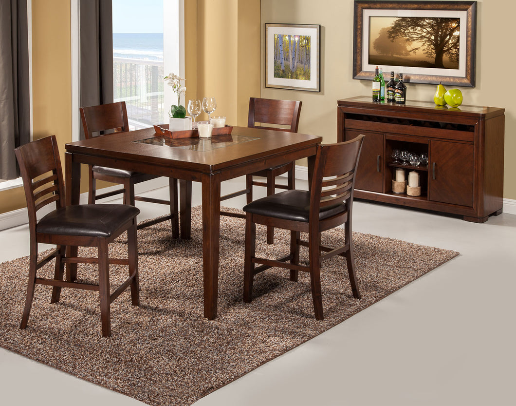 Granada Pub Table, Brown Merlot