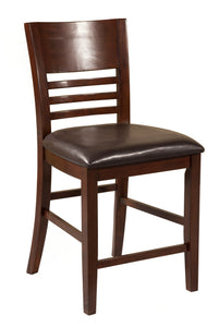 Granada Pub Chairs, Brown Merlot