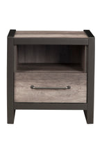 Load image into Gallery viewer, Monarch Nightstand, Grey/Black