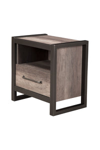 Monarch Nightstand, Grey/Black