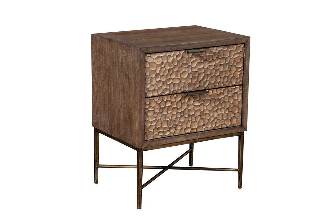 Brown Pearl Nightstand, Brown Bronze