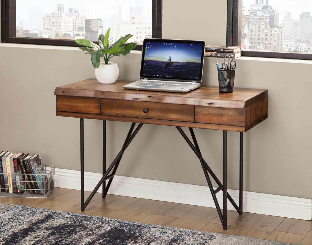Live Edge Writing Desk, Light Walnut