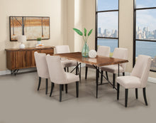 Load image into Gallery viewer, Live Edge Parson Chairs, Cream/Black