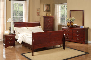 Louis Philippe II Bed, Cherry