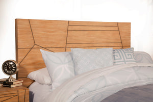 Trapezoid Headboard Only, Cerused Wheat