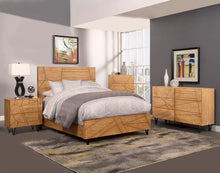 Load image into Gallery viewer, Trapezoid Headboard Only, Cerused Wheat