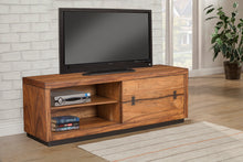 Load image into Gallery viewer, Live Edge TV Console/ Cabinet Bench, Tobacco