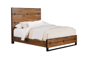 Live Edge Bed, Tobacco