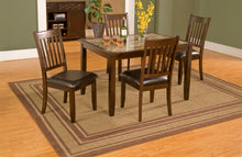 Load image into Gallery viewer, Capitola Faux Marble 5 Piece Dinette Set, Espresso