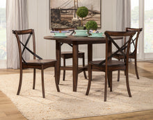 Load image into Gallery viewer, Arendal Round Table, Burnished Dark Oak