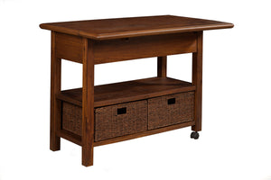 Caldwell Kitchen Cart, Antique Cappuccino