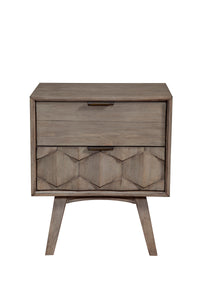 Shimmer Nightstand, Antique Grey
