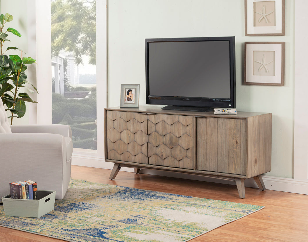 Shimmer TV Console, Antique Grey