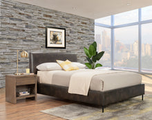 Load image into Gallery viewer, Sophia Faux Leather Platform Bed, Gray
